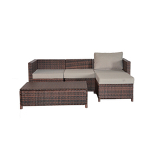 Patio Furniture Set Cushioned Outdoor Wicker Rattan Garden Lawn Sofa Set