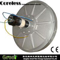 Disc Coreless PMG ! Low speed permanent magnet generator 1kw for wind power and water power outer rotor