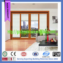 Good looking patio heavy duty glass sliding door with internal blinds
