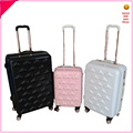 chinese cute white clouds luggage travel abs pc suitcase for girl