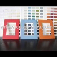 Wholesale 1.4mm thickness colorful paper picture frame pre-cut mat board