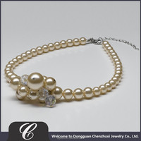 Fine Jewelry China Necklaces Best Girlfriend, 3-30mm Glass Pearl Jewelry Best Friends Forever Necklaces