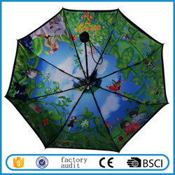 Two Layers Full Color Totoro Inside Design Fold Umbrella