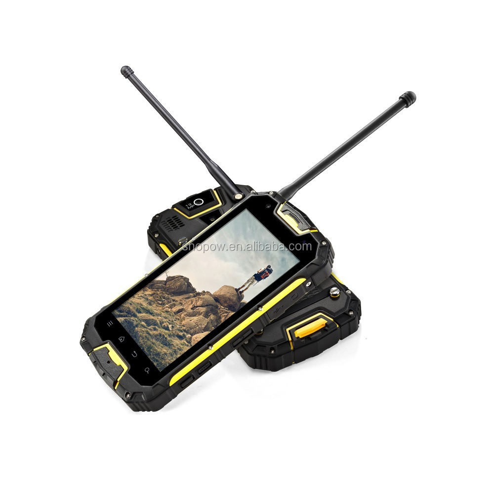 Snopow M8 IP68 waterproof 2G 3G 4G-LTE full networks android 5.1 OTG NFC RFID walkie talkie discovery v5 smartphone