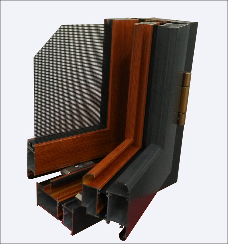 Large frame hot insulated casement and awning window system