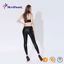Fashionable sexy woman leggings girls tube pantyhose leather tights