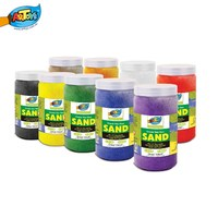 school supplies natural dyed color sand for kids art