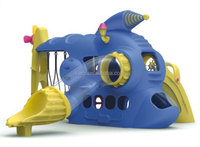 KAIQI GROUP full plastic hot sale space vessel with slide and swing