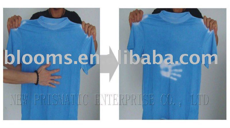 Promotional Temperature sensor color change tshirt