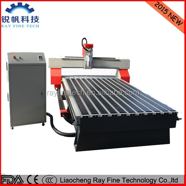 1325 3kw spindle motor HIWIN linear guide rails cnc rout machine for wood with NC studio control program
