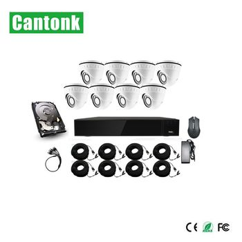 8ch bullet and dome DVR kit 1080p 5MP security camera kit brand cctv camera china smart phone