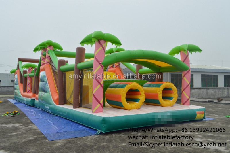 PK Inflatable Obstacles Races Boot Camp Inflatable Obstacle Course For Kids Amusement Park