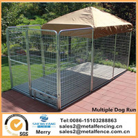 8' x 16' x 6' with flooring Multiple Modular Welded Wire Professional Kennel Dog Run for two dogs