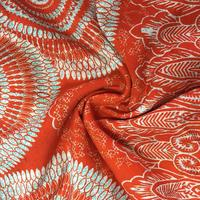 Wholesale woven viscose printed spun rayon fabric for dress clothing
