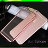 New arrival electroplating soft tpu case carcasas celulares for iphone 6 6S