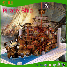 Pirate ship design of indoor soft playground