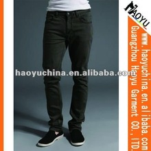 2015 Skinny Fit Soft Black Men Jeans (HYM1189)
