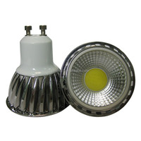 Dimmable GU10 LED Spotlight COB 3W 5W 6W with CE certificate