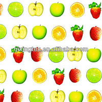 Fruit printed cherry fabric 80 Polyester 20spandex fabric for girl swiming suits/ bathing suit