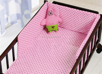 100% cotton girl printed cartoon baby crib bedding set for home