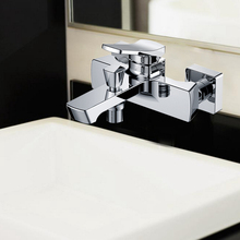 2 hole bath brass faucet for bathroom square sharpe( ZS41301)