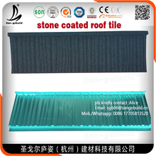 Colorful Stone Coated Roof Tiles Easy Roof Installation Heat-proof Stone Coated Metal Roofing Tile