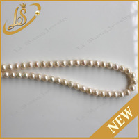 Hot Sale Natural Fresh Water Round White Pearl Strand