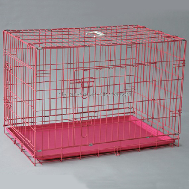 Retail customized size square tube metal dog kennel