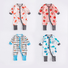 Wholesale Organic Infant Toddlers Baby Zipper Romper Baby Clothing Romper Boy Romper