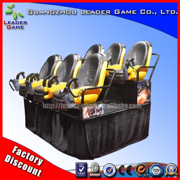 6 seats 7d simulator de cinema equipment for sale