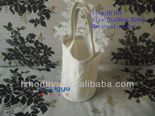 Hot sale round bottom hand cotton bag jute bag for Tea Bowl