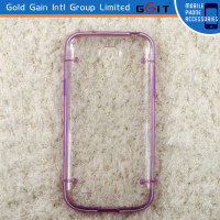 New Arrival TPU + PC Transparent Cover Case For iPhone 4S Transparent Cover Case