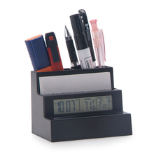 PN-1027 Pen Holder Digital Clock, Weather Forecast Clock, Student Stationery Clock