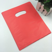 Custom design logo printing biodegradable plastic die cut pe shopping bag