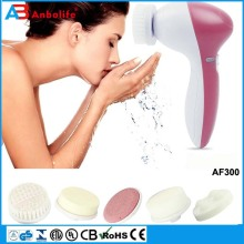 Anbo 2017 Newest Design Selling good Rechargeable deep pore cleansing facial brush/portable electric face cleanser