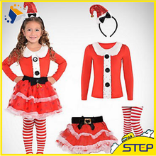 China Supply Girl Red Christmas Character Costumes