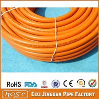 Qualite Alimentaire Tuyau D'arrosage Low Pressure Gas Cooker Hose Orange Color Flexible Fuel PVC Hose