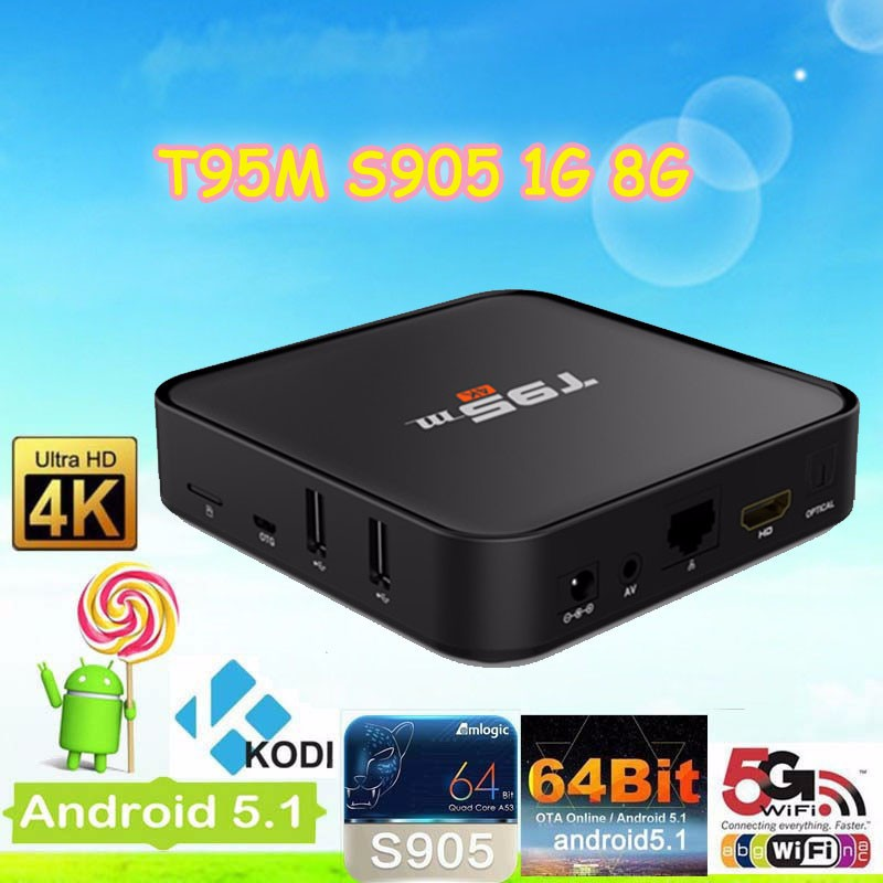 Set top box tv box T95M S905 1G 8g Ott smart T95M S905 1G 8g T95M S905 1G 8g android tv box 1gb 8gb