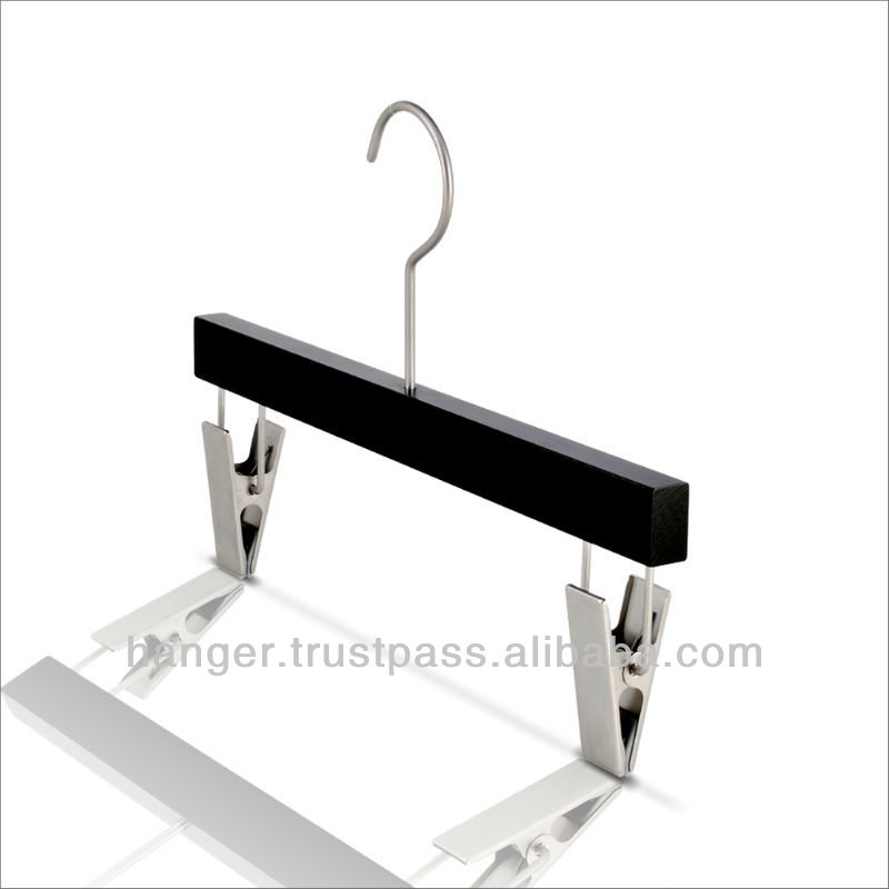 Luxury Black Wooden Trousers / Pants Hanger for American Used Clothing