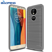 TPU Cell Phone Carbon Fiber Mobile Back Cover Case for Moto G6 Play