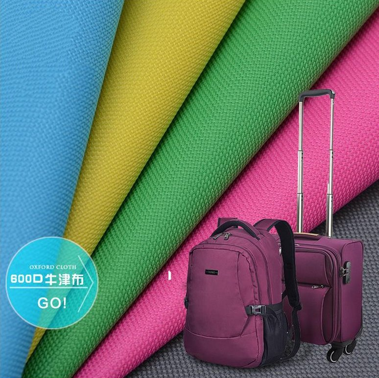 polyester 600D waterproof PVC coated oxford fabric