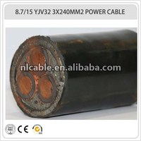 8.7/15kv 3x240mm2 power cable/cable power/price high voltage power cable
