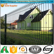 PVC coated green triangle welded metal fence panel