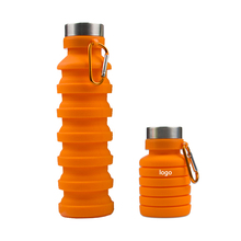 Customized Logo BPA Free Smart Cold Bike Drinking Plastic Silicone Foldable <strong>Sports</strong> Collapsible Water Bottle