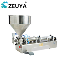 economical two filling <strong>nozzles</strong> 100-1000ml <strong>fruit</strong> jam filling machine with hopper manufacturer