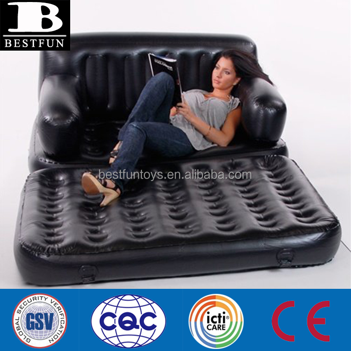 high quality inflatable smart air beds portable folding plastic double sofa bed vinyl pvc outdoor inflatable furniture for adult
