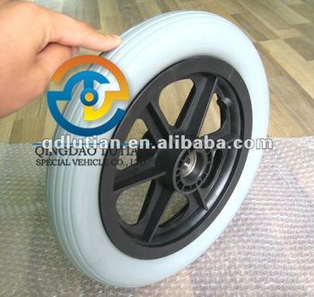 12 inch pu foam wheel, wheelchair wheel 12''x2'', pu foam wheel 300x50mm