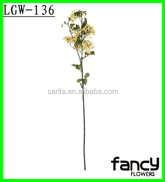 Decorative artificial flower berry sprays