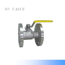 SS304 /CF8 level handle flange ball valve