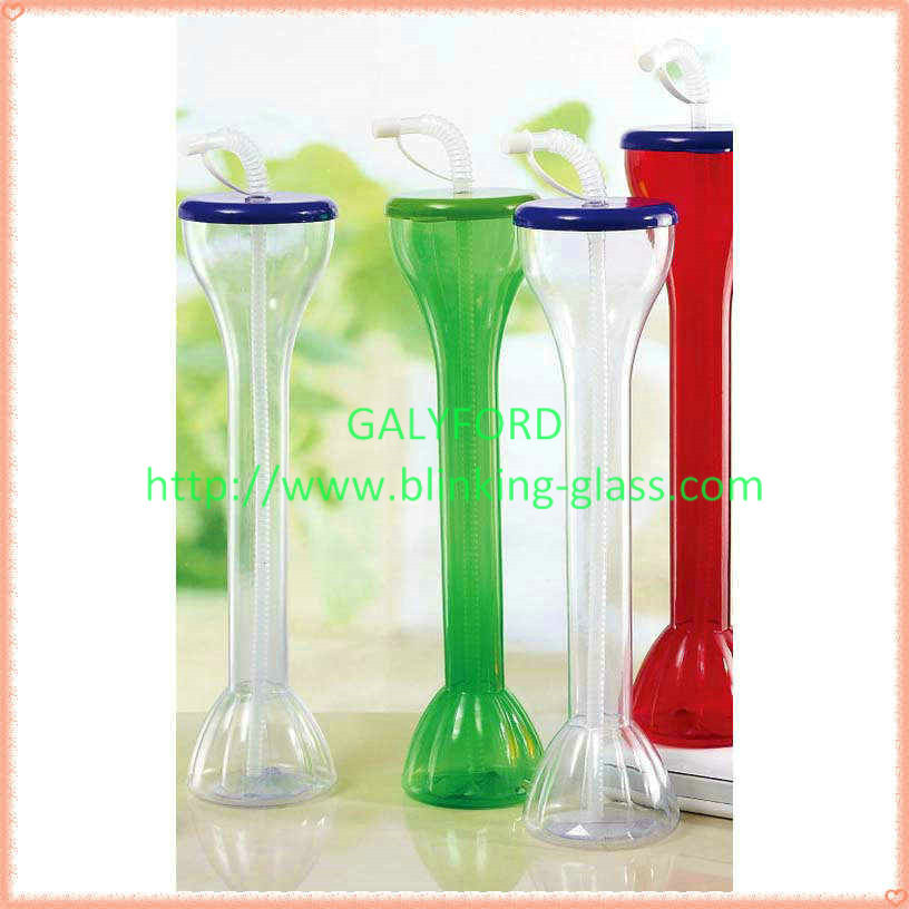 PET Food Grade Plastic Yard Glass for drinking beer and juice funny beer cup yard glass